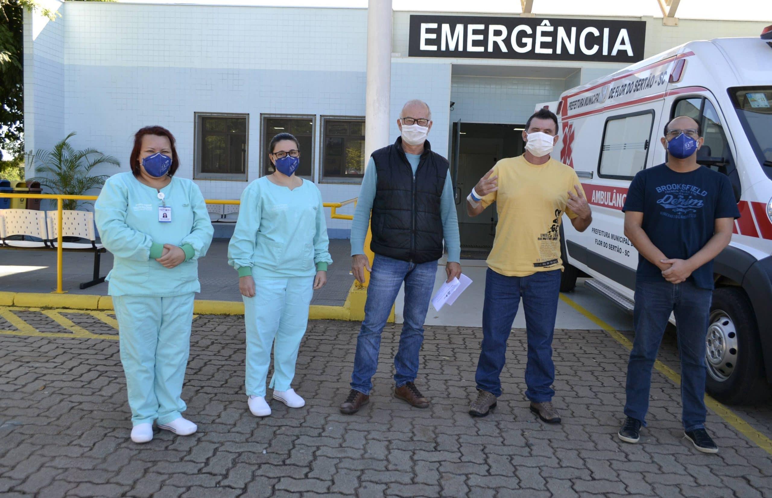 Primeiro paciente confirmado com Covid-19 tem alta no no Hospital Regional de São Miguel do Oeste