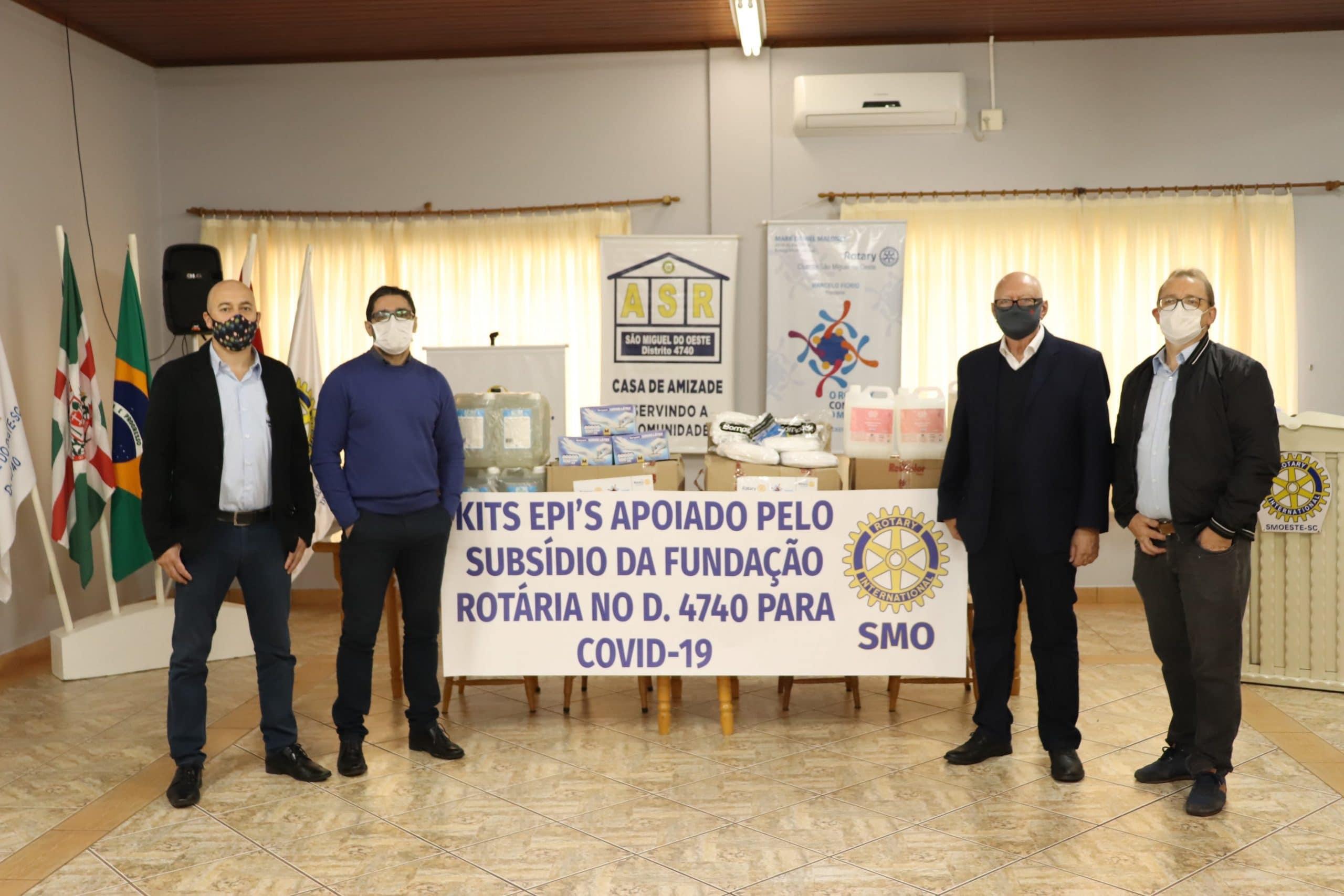 Rotary Club de São Miguel do Oeste doa materiais ao Instituto Santé para enfrentamento da Covid-19